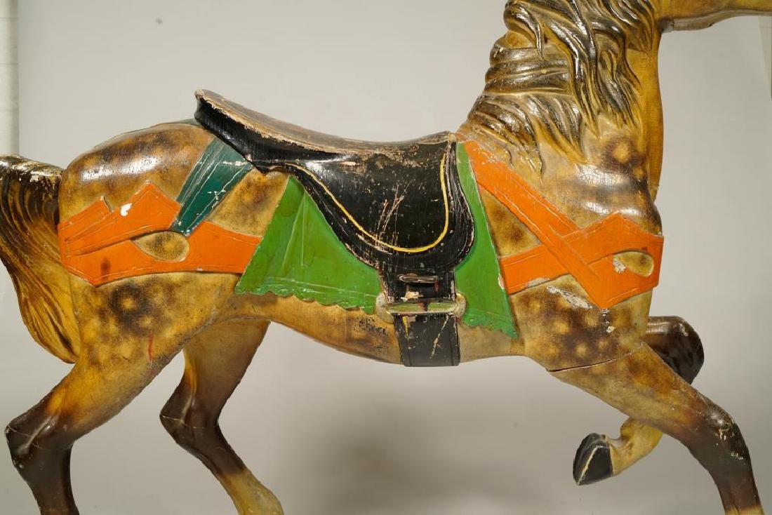 (LATE 19Th c) CAROUSEL HORSE IN GREAT OLD PAINT - 9