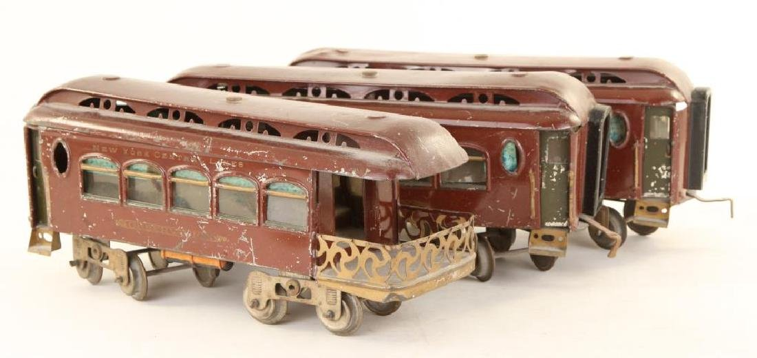 (2) LIONEL MFG CO. PULLMANS & (1) OBSERVATION CAR