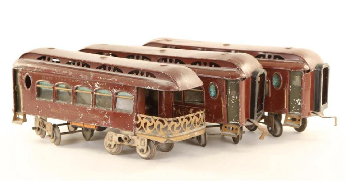 (2) LIONEL MFG CO. PULLMANS & (1) OBSERVATION CAR - 4