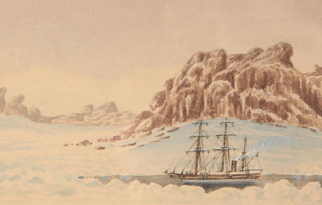 "WATERCOLOR OF THE STEAMER ""JEANNETTE"" IN ARCTIC - 2"