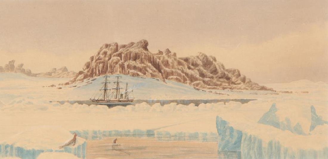 "WATERCOLOR OF THE STEAMER ""JEANNETTE"" IN ARCTIC - 3"