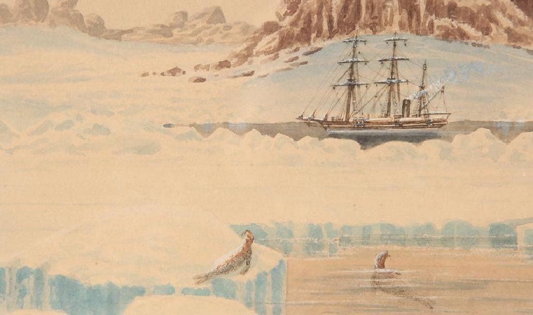 "WATERCOLOR OF THE STEAMER ""JEANNETTE"" IN ARCTIC - 4"