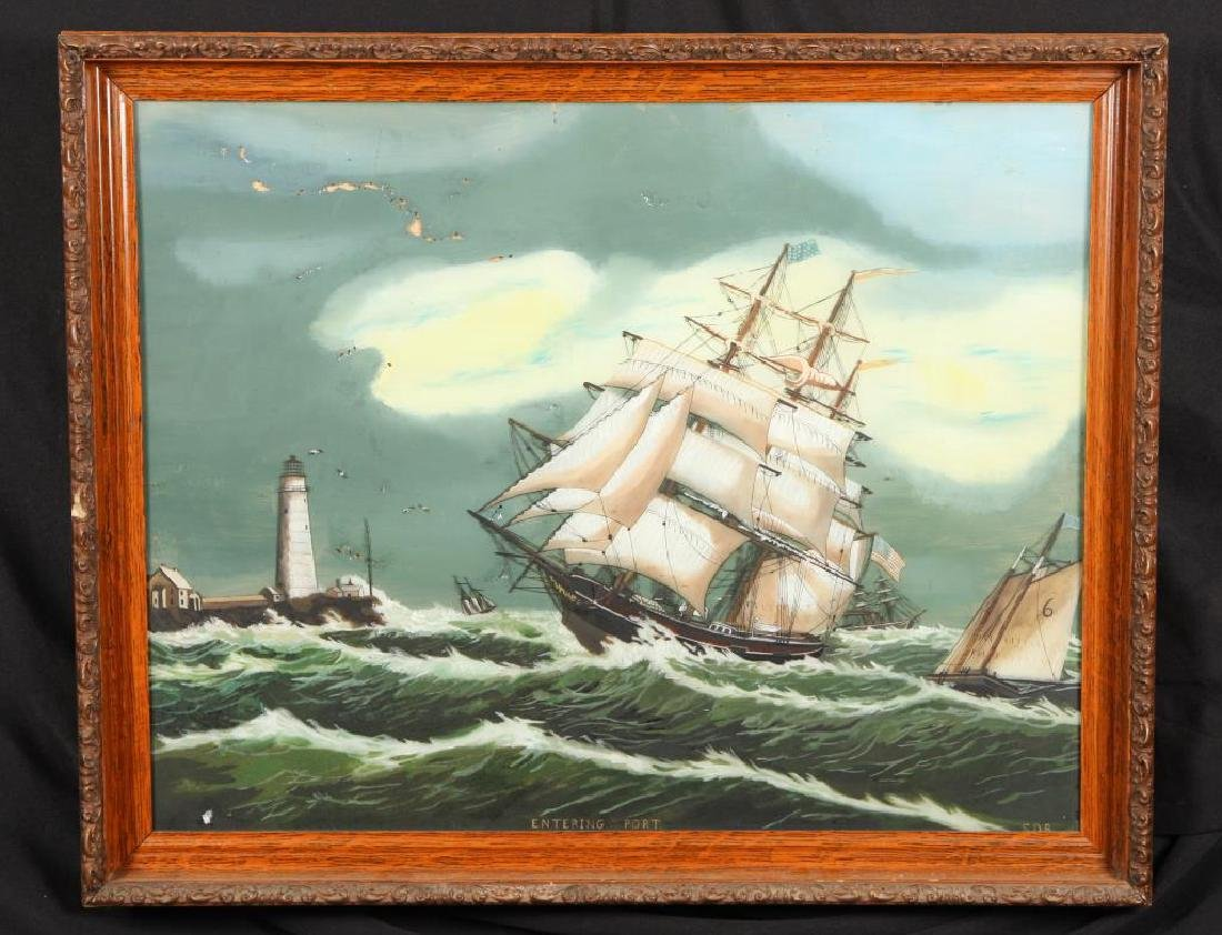 (19th / 20th c) AMERICAN SCHOOL MARITIME RETURN