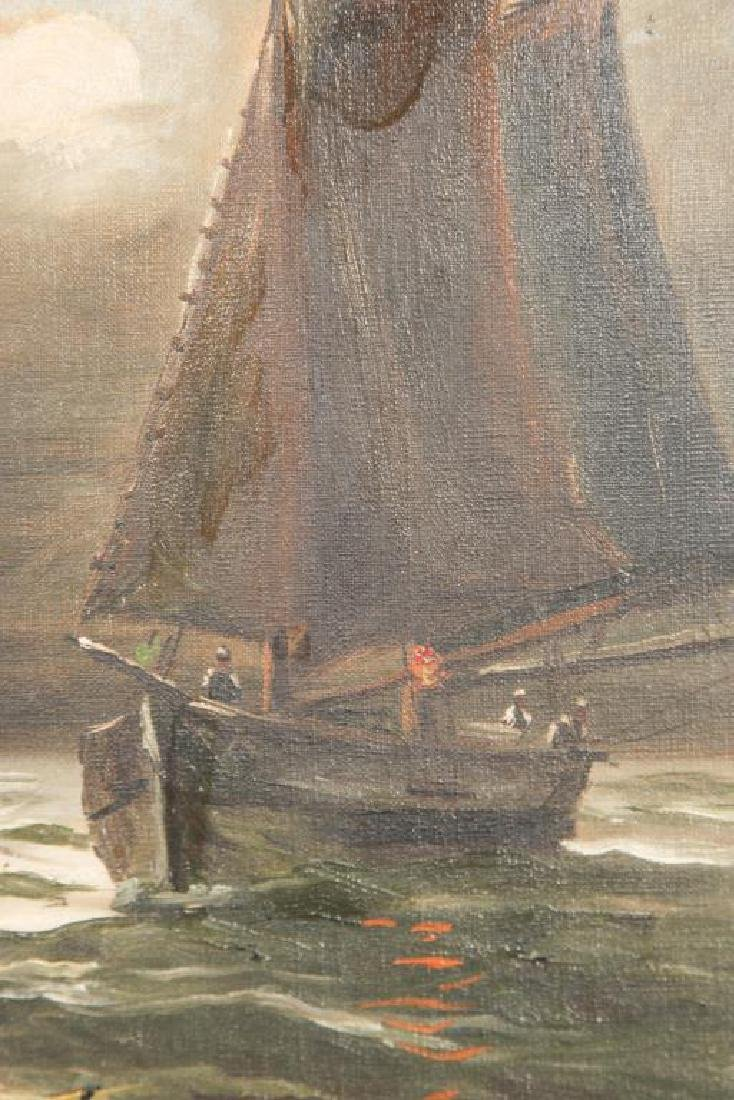 AMERICAN SCHOOL (19th c) FISHING BOATS - 2