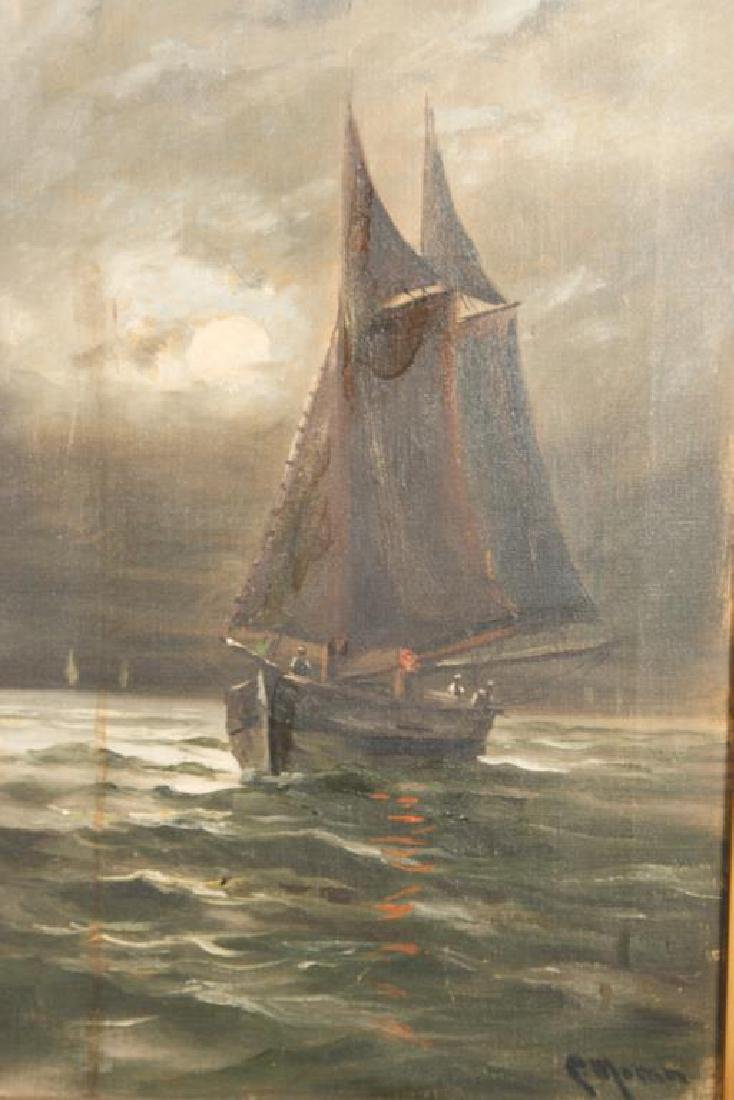 AMERICAN SCHOOL (19th c) FISHING BOATS - 4