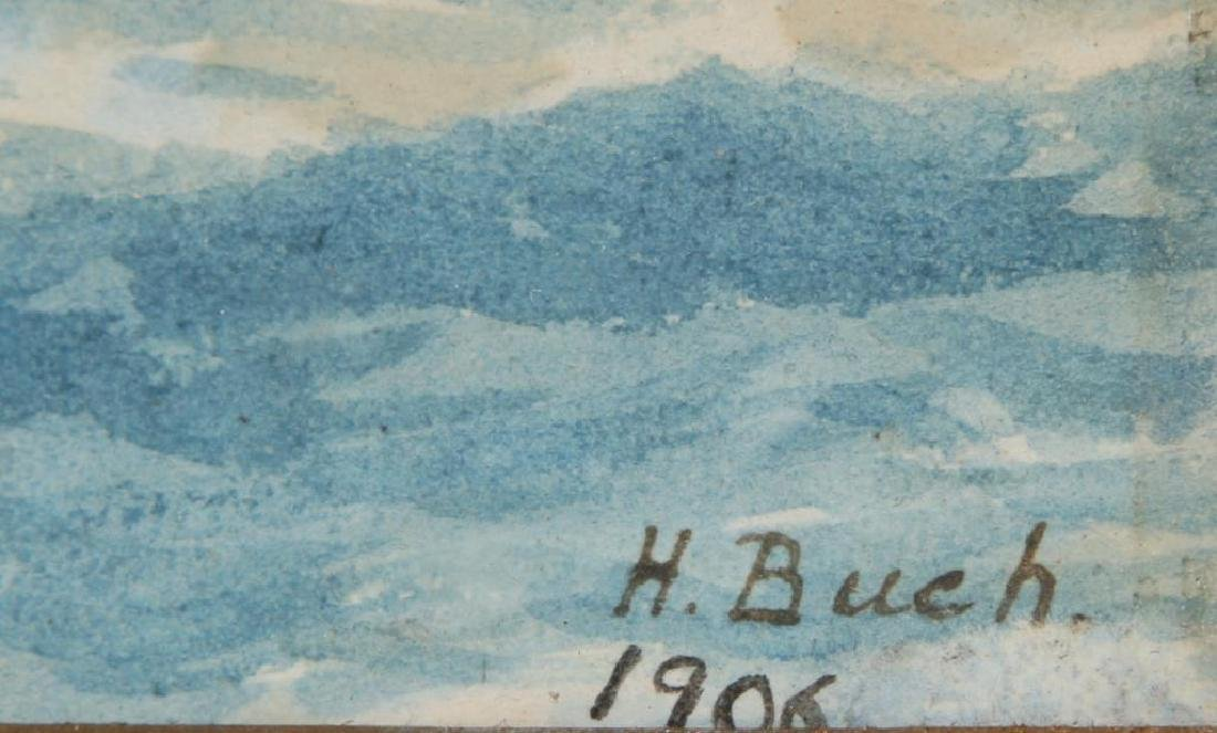 1906 WATERCOLOR OF A SHIP IN THE ANTARCTIC - 5