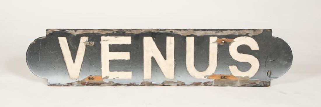 """VENUS"" SHIP'S NAMEBOARD / POSSIBLY FROM A TUG"