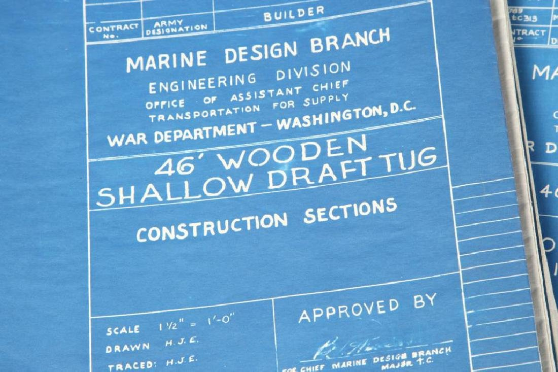 (9) PAGES OF PLANS/ BLUEPRINTS FOR BOATS - 4