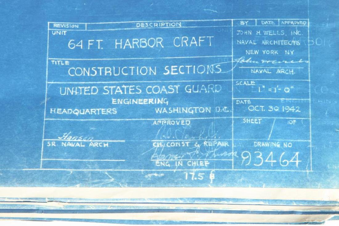 (9) PAGES OF PLANS/ BLUEPRINTS FOR BOATS - 5