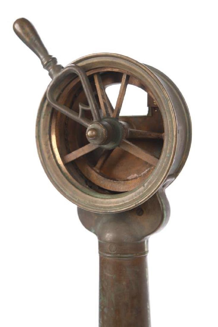 DIMINUTIVE BRASS SHIP'S TELEGRAPH - 4