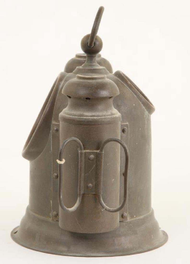 SMALL SOLID BRASS BINNACLE with (2) SIDE LIGHTS - 2