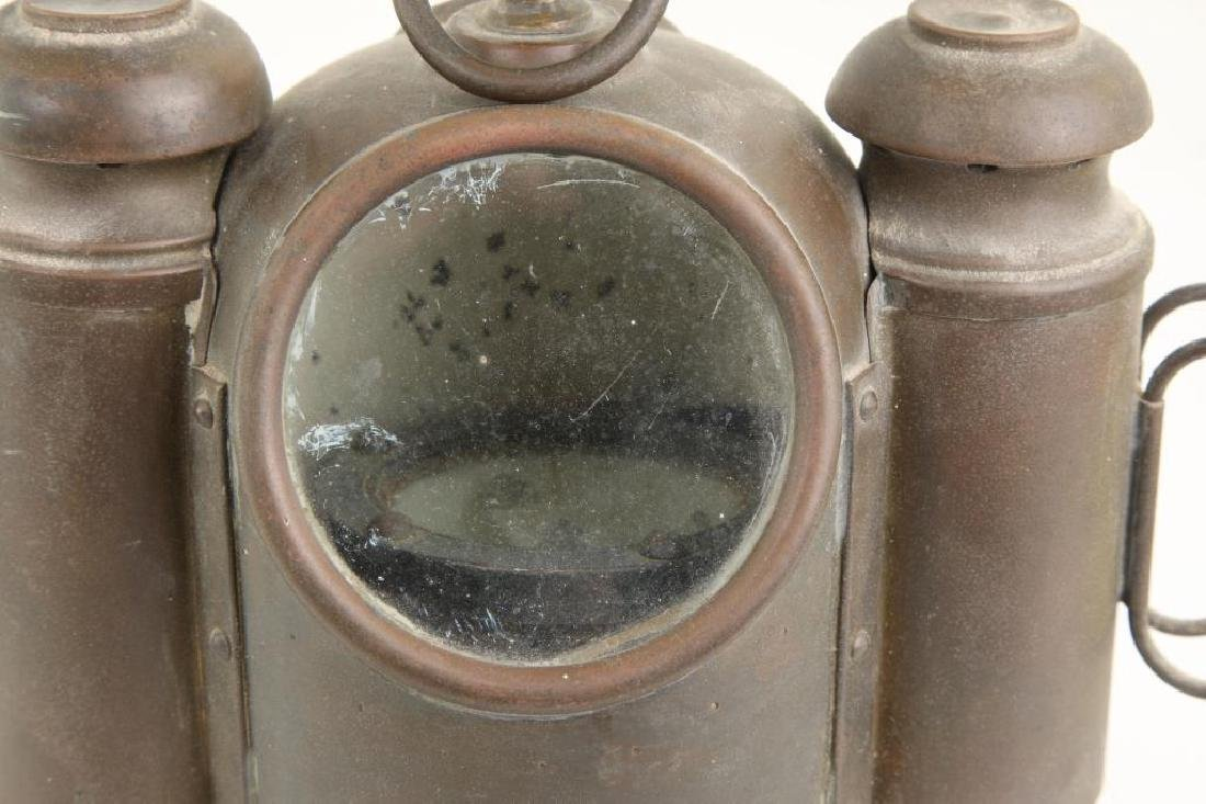 SMALL SOLID BRASS BINNACLE with (2) SIDE LIGHTS - 4