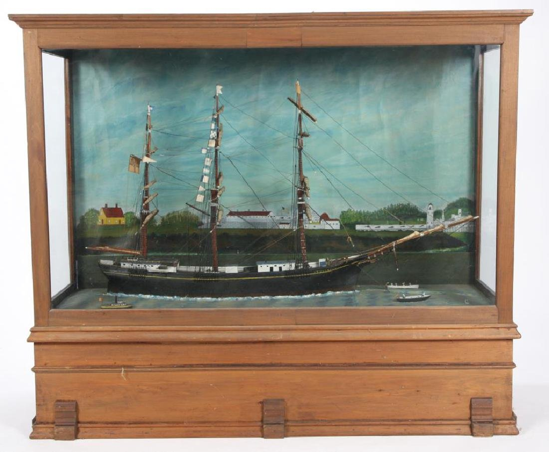 "LARGE ANTIQUE CASED MODEL OF ""YUNG AMERIKA"""