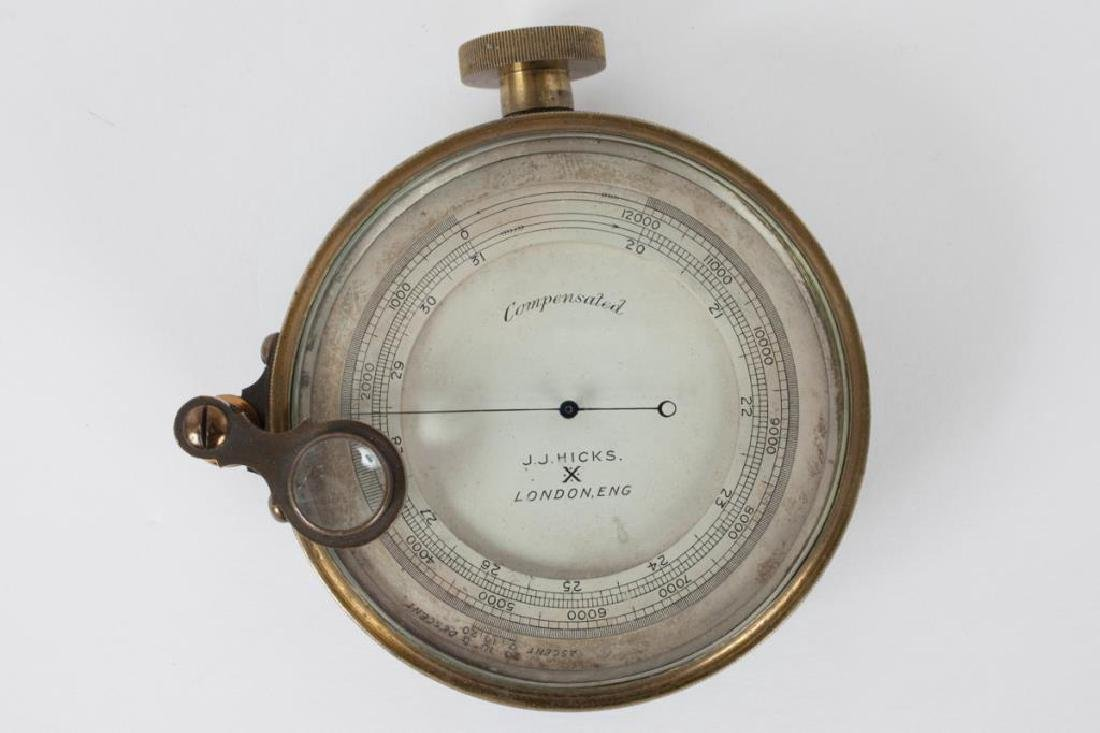 J.J. HICKS ANEROID POCKET BAROMETER / ALTIMETER