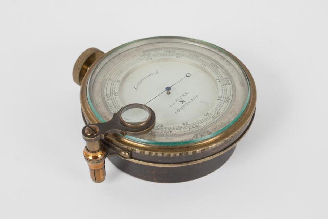J.J. HICKS ANEROID POCKET BAROMETER / ALTIMETER - 4