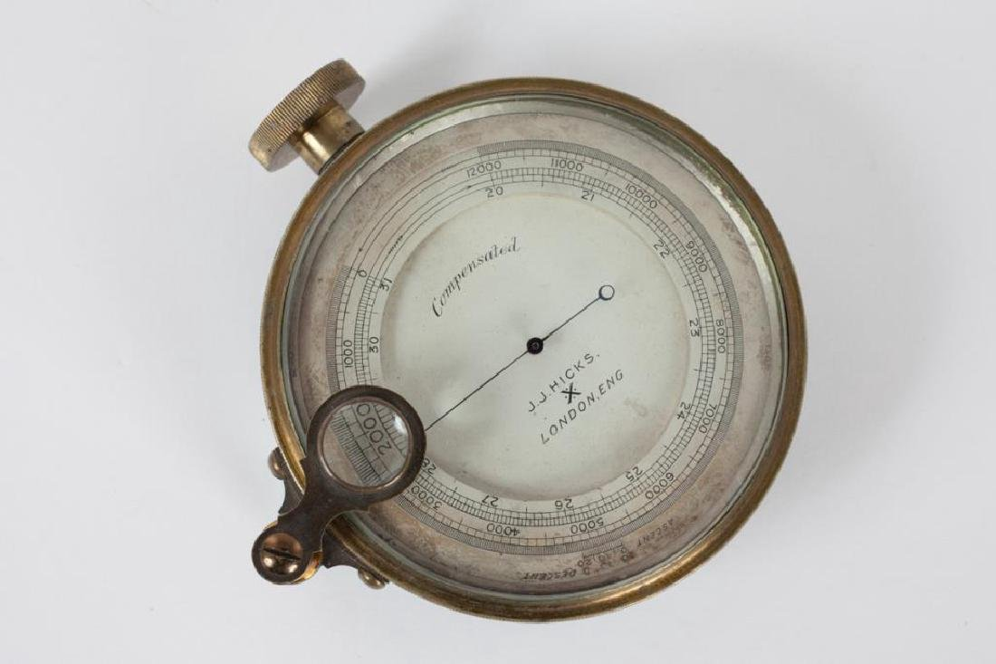 J.J. HICKS ANEROID POCKET BAROMETER / ALTIMETER - 6