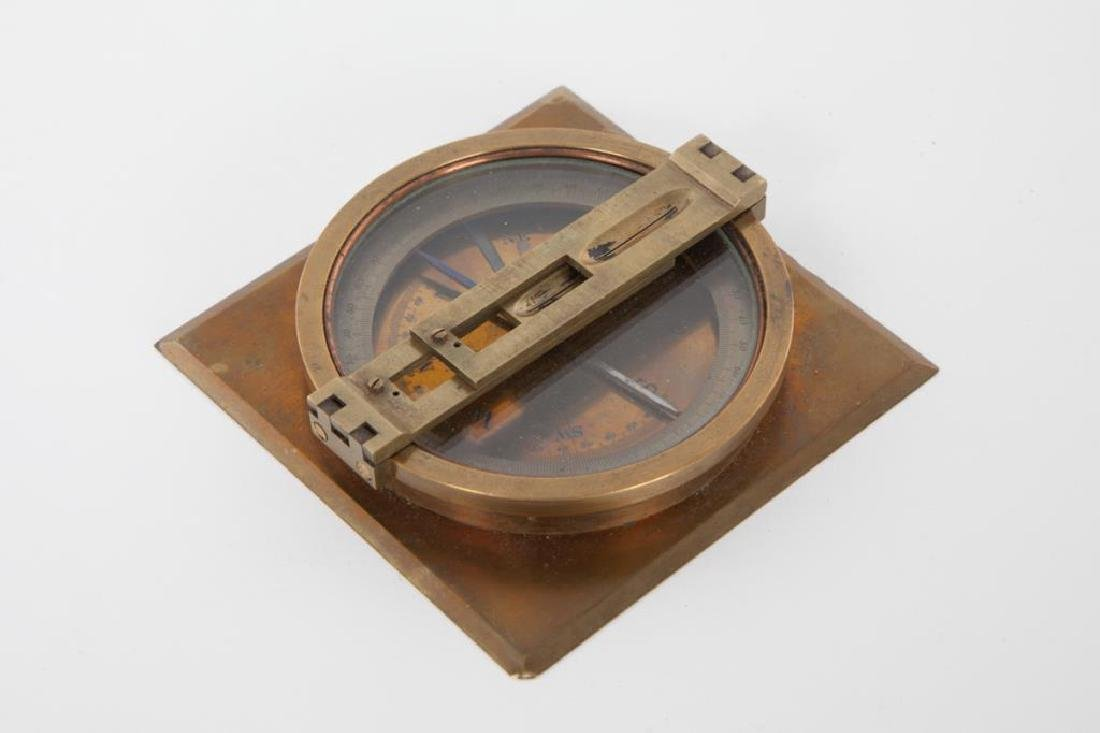 BRASS TABLE DRY COMPASS with SITE VANES