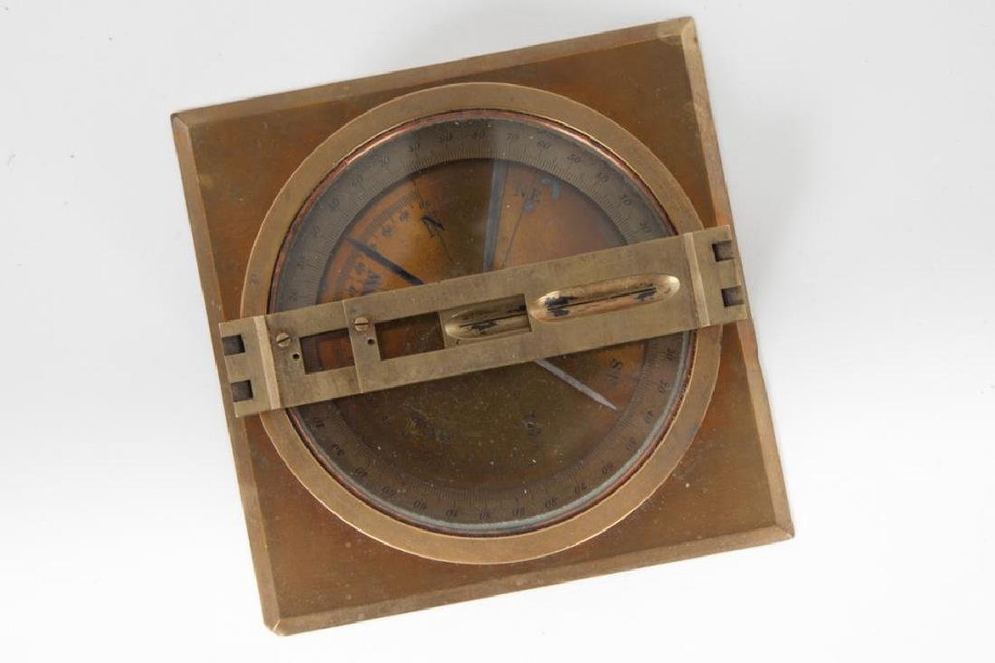 BRASS TABLE DRY COMPASS with SITE VANES - 2