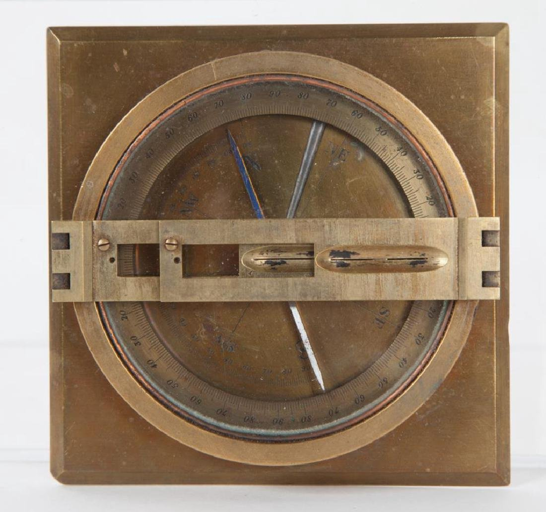 BRASS TABLE DRY COMPASS with SITE VANES - 3