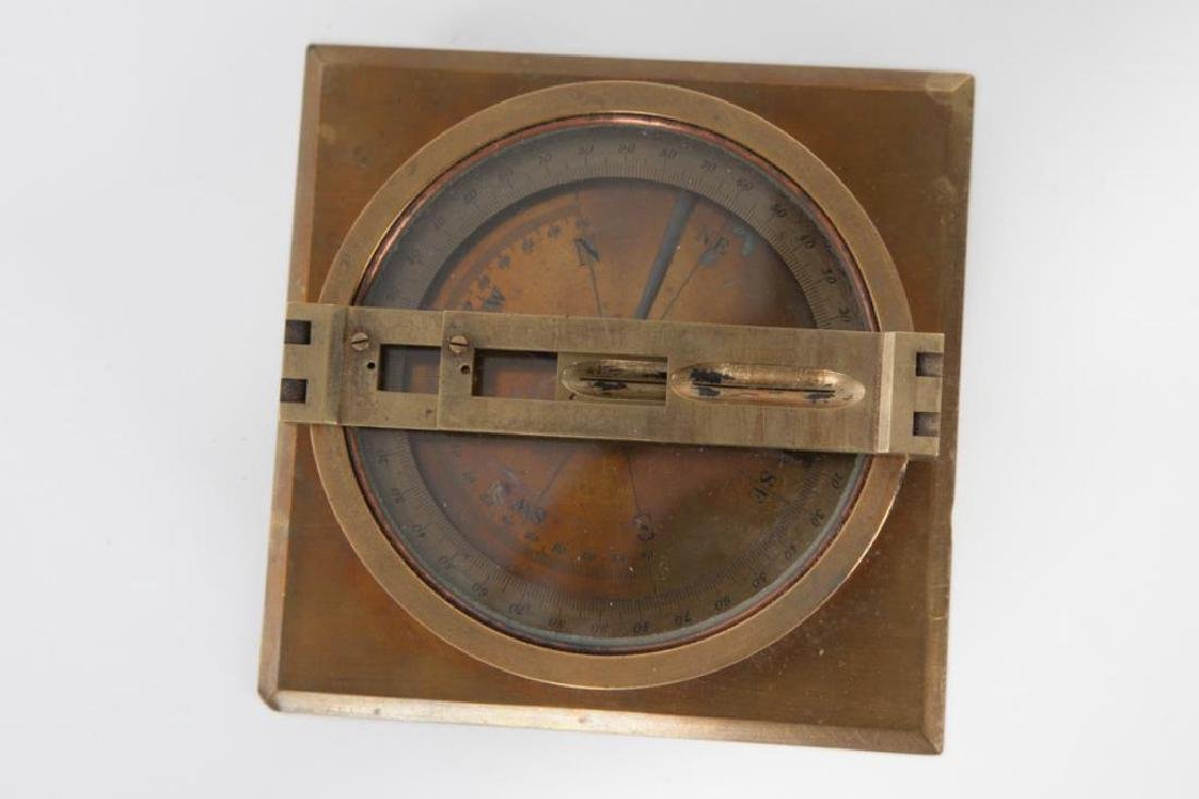 BRASS TABLE DRY COMPASS with SITE VANES - 5