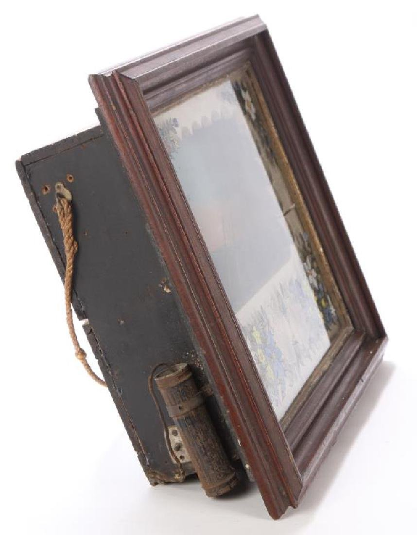 VICTORIAN SHADOW BOX DIORAMA of SHIP & LIGHTHOUSE - 4