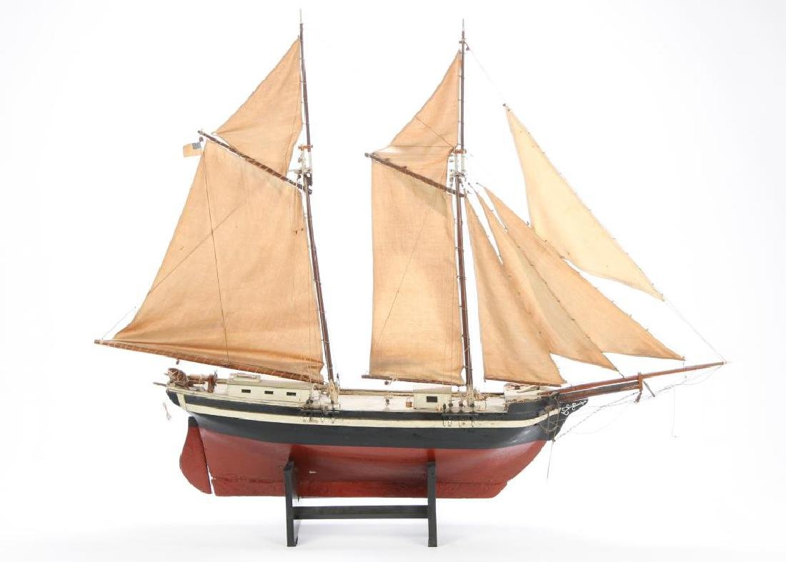 WONDERFUL ANTIQUE MODEL OF A SCHOONER - 3