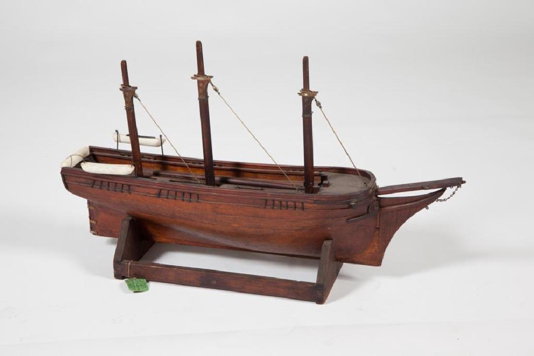 "DRY DOCK MODEL of 1853 WHALER ""MORNING STAR"""