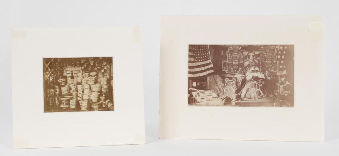 (2) (19th/ 20th c) PHOTOGRAPHS OF NATIVE AMERICANA