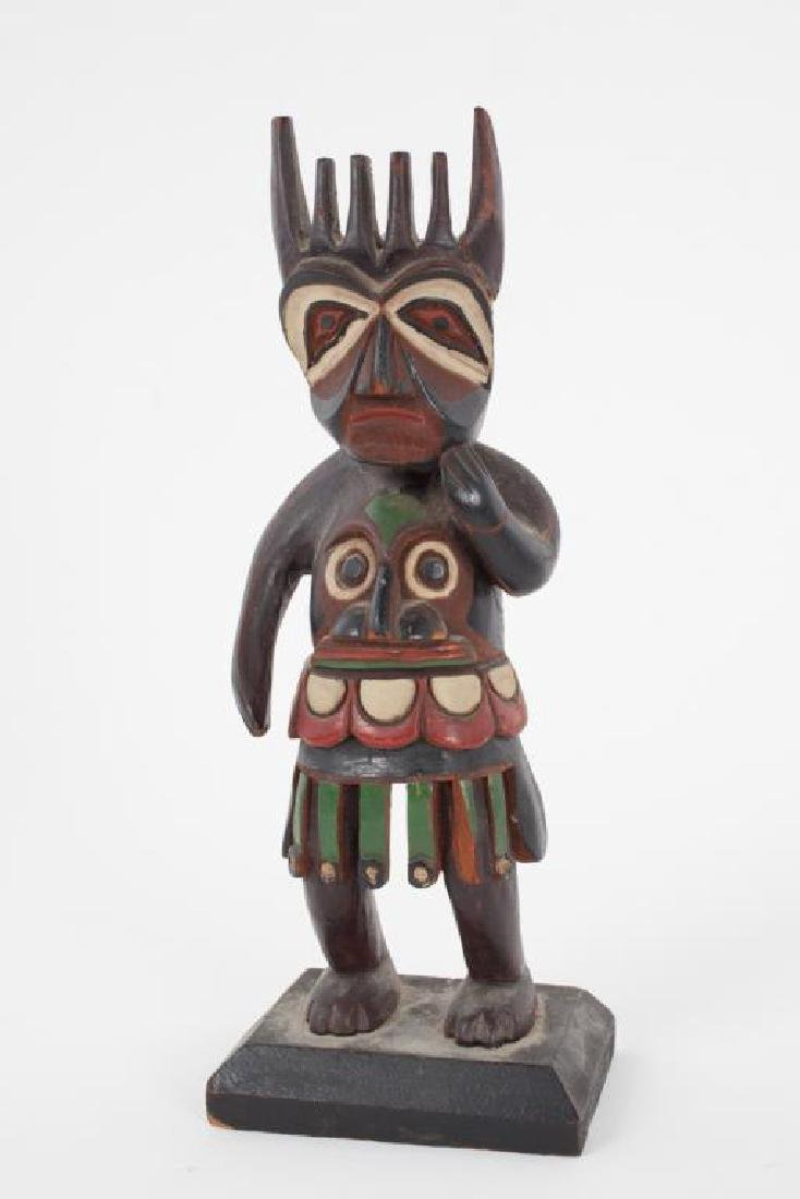 EARLY CARVED AND PAINTED HAIDA SHAMAN
