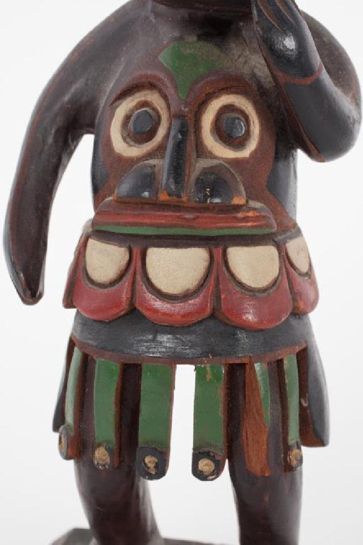 EARLY CARVED AND PAINTED HAIDA SHAMAN - 2