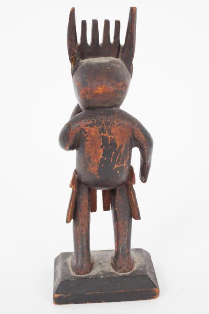 EARLY CARVED AND PAINTED HAIDA SHAMAN - 3