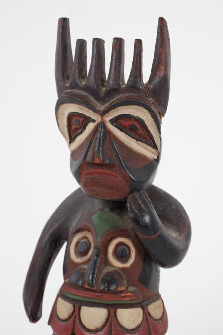 EARLY CARVED AND PAINTED HAIDA SHAMAN - 4