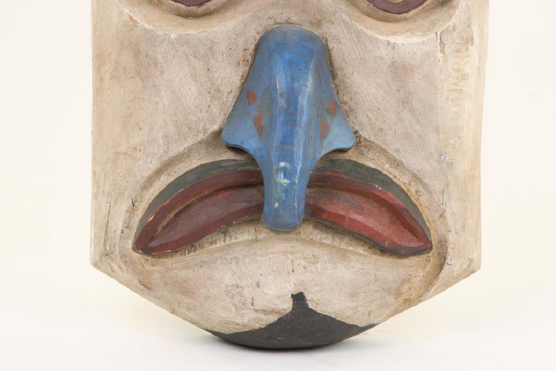PACIFIC NORTHWEST CARVED AND PAINTED HOUSE MASK - 2