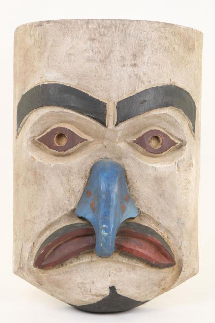 PACIFIC NORTHWEST CARVED AND PAINTED HOUSE MASK - 3