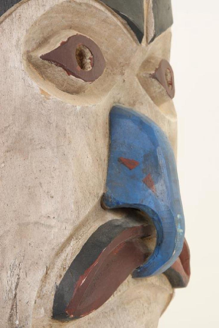 PACIFIC NORTHWEST CARVED AND PAINTED HOUSE MASK - 5