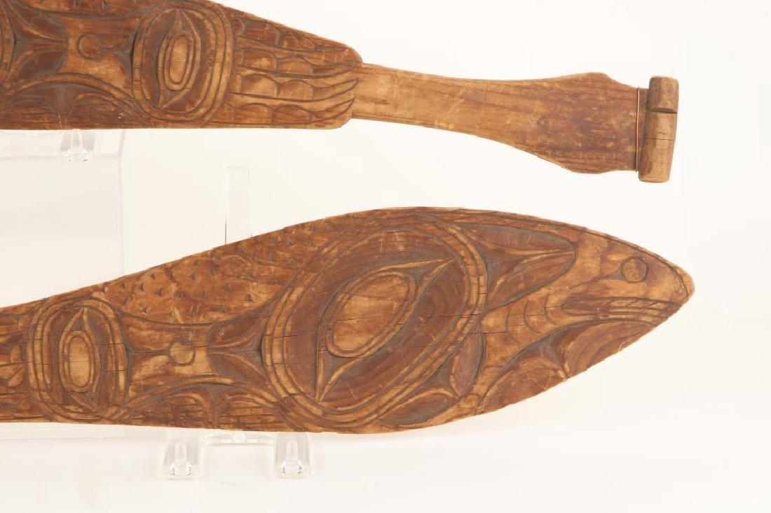 PAIR OF PACIFIC NORTHWEST CANOE PADDLES c.1890 - 7