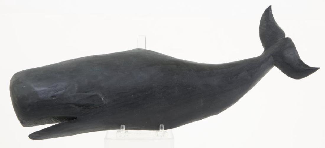 (20th c) FOLK CARVING OF A SPERM WHALE