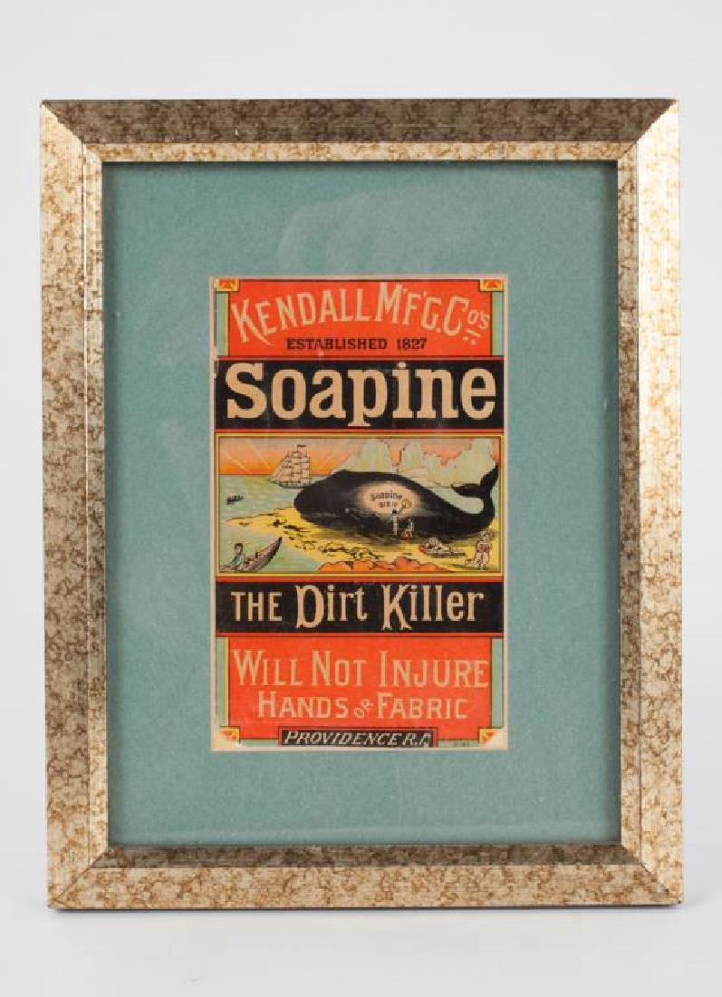 "KENDALL MFG ""SOAPINE"" ADVERTISING CHROMOLITHOGRAPH"