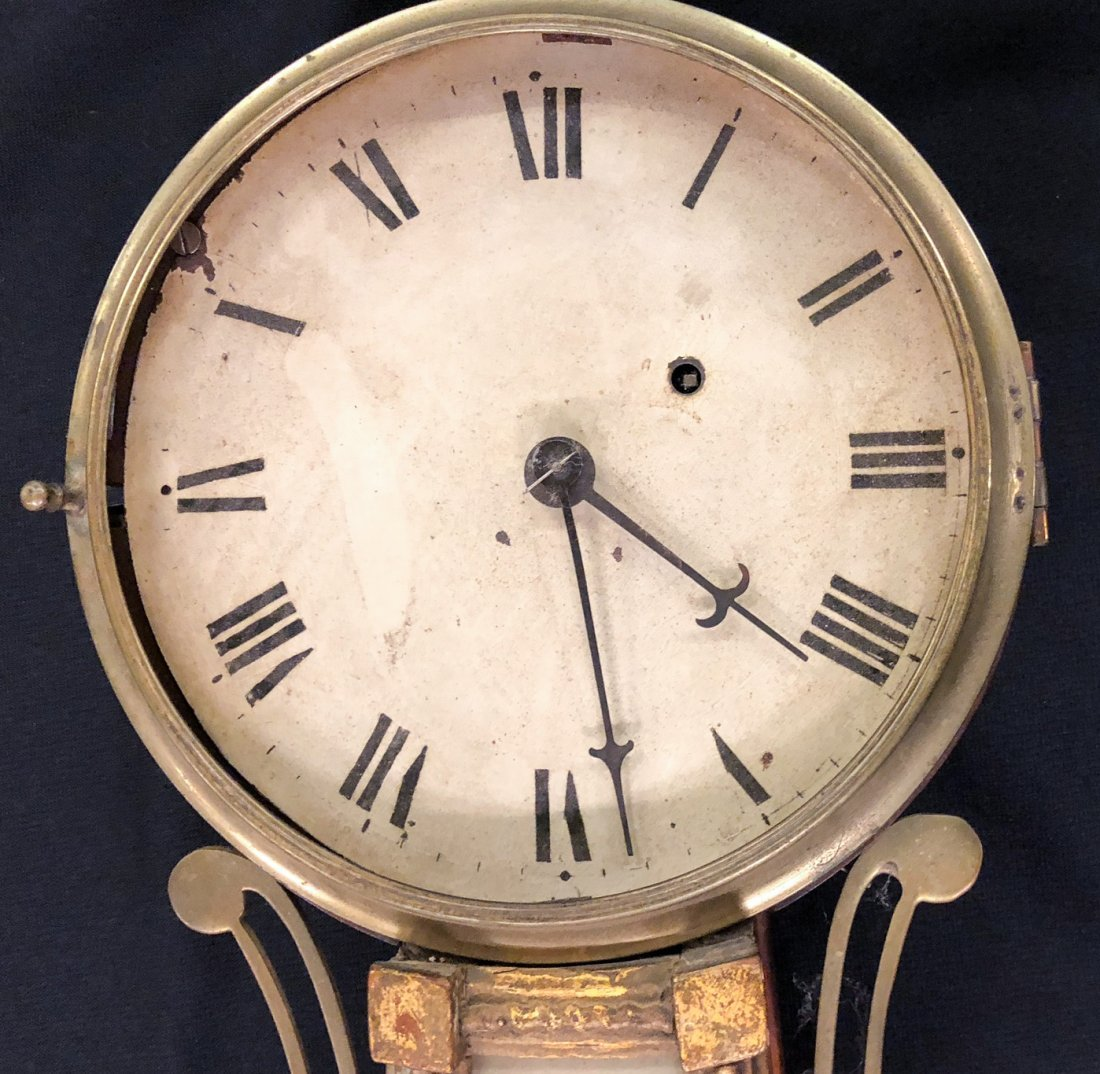 "(19th c) BANJO CLOCK ""Lake Eerie Perry's Victory"" - 3"