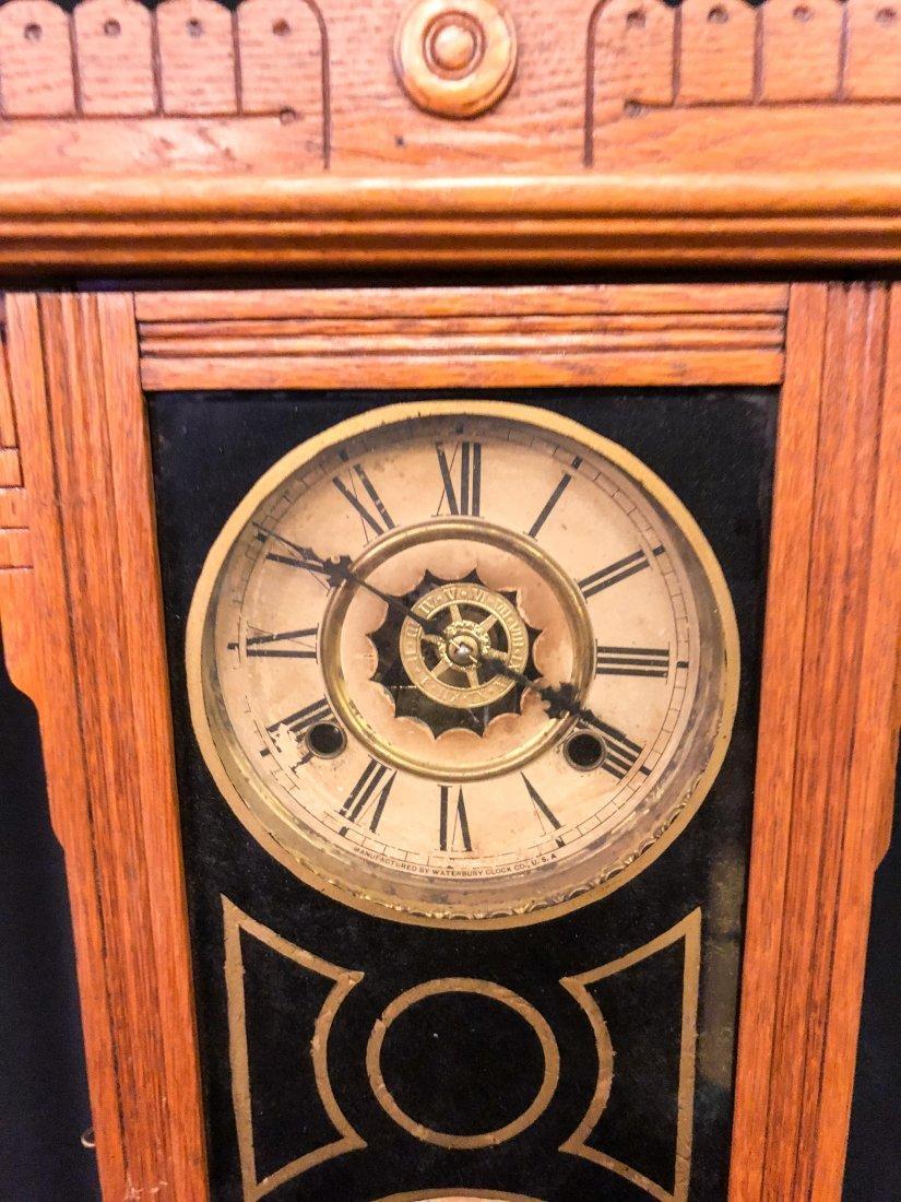 WATERBURY CLOCK CO. No. 44 CALENDAR SHELF CLOCK - 2