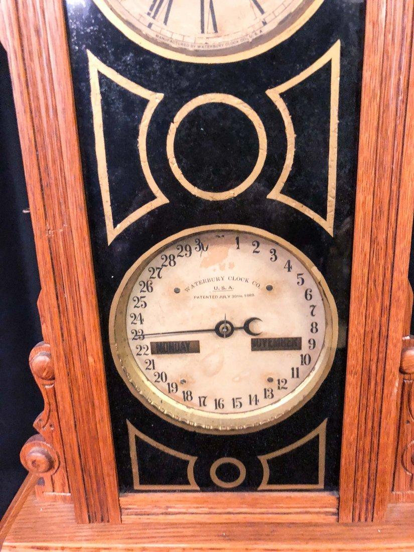 WATERBURY CLOCK CO. No. 44 CALENDAR SHELF CLOCK - 3