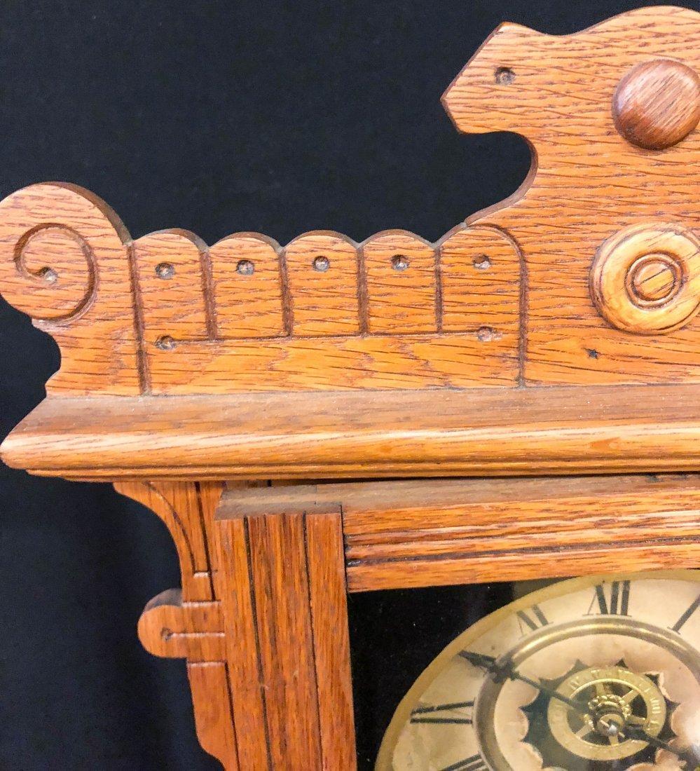 WATERBURY CLOCK CO. No. 44 CALENDAR SHELF CLOCK - 4