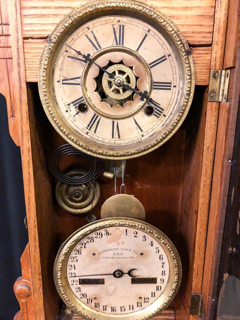 WATERBURY CLOCK CO. No. 44 CALENDAR SHELF CLOCK - 5