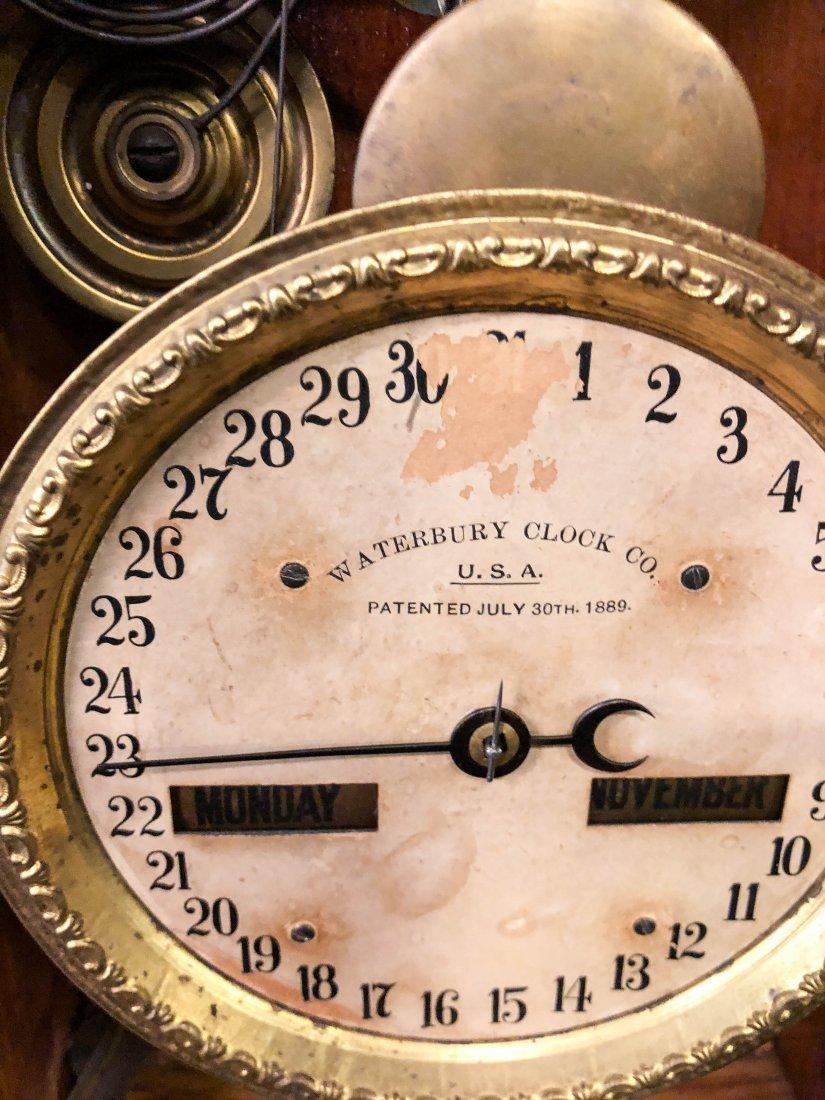 WATERBURY CLOCK CO. No. 44 CALENDAR SHELF CLOCK - 6