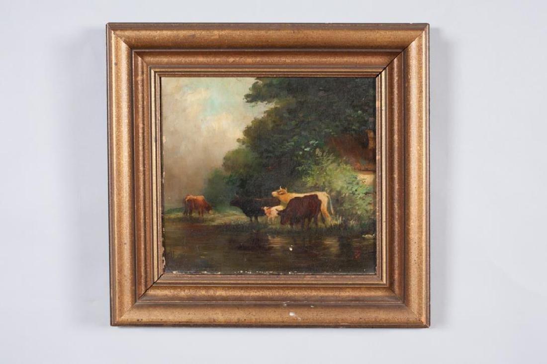 AMERICAN SCHOOL (19th c) Cattle
