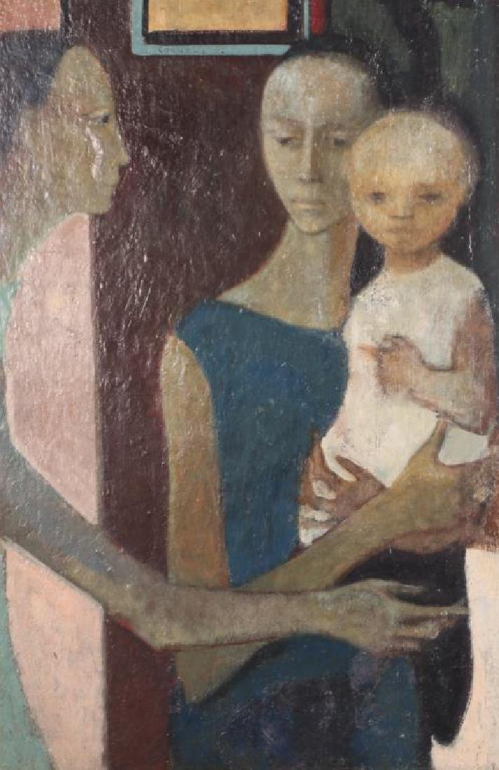 "MODERNIST SCHOOL (20th c) Cornelis '52 ""Young Family"" - 3"