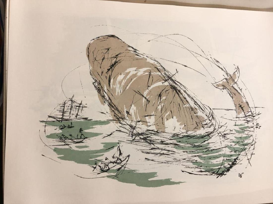 THE PASSION OF AHAB 26 Lithographs by Benton Spruance. - 2