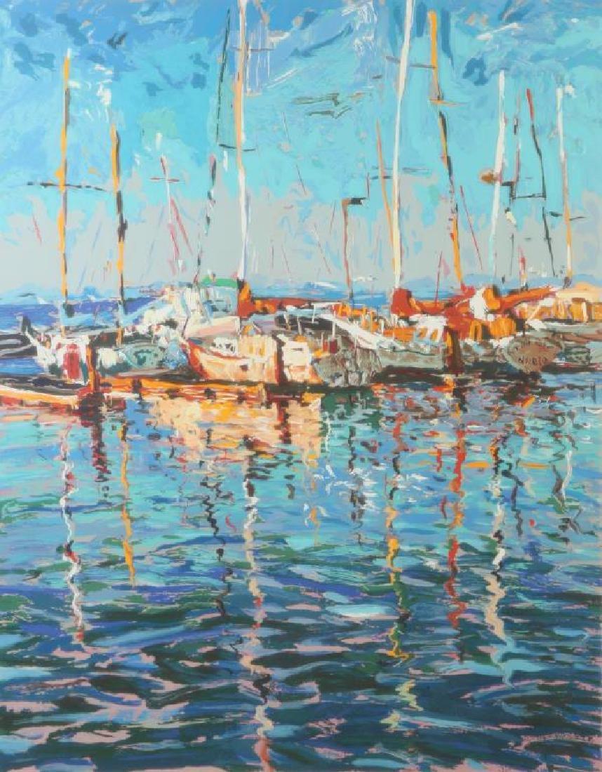 "MARCO SASSONE (b.1942) ""Marina"" serigraph in color 32 x"