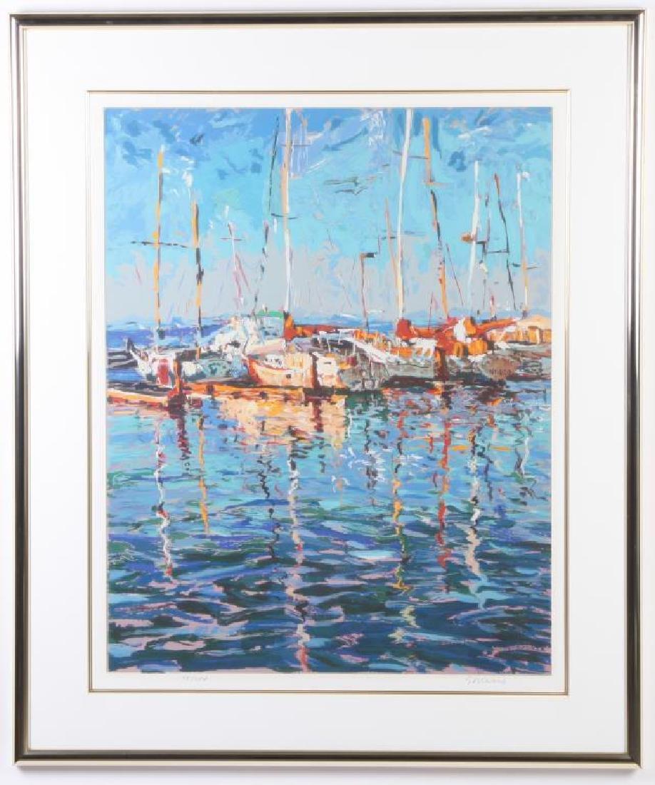 "MARCO SASSONE (b.1942) ""Marina"" serigraph in color 32 x - 4"
