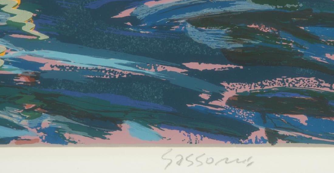 "MARCO SASSONE (b.1942) ""Marina"" serigraph in color 32 x - 5"